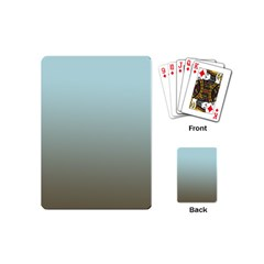 Blue Gold Gradient Playing Cards (Mini)