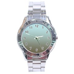 Blue Gold Gradient Stainless Steel Watch