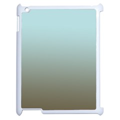 Blue Gold Gradient Apple Ipad 2 Case (white)