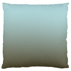 Blue Gold Gradient Large Cushion Case (single Sided)