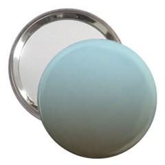 Blue Gold Gradient 3  Handbag Mirror