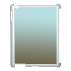 Blue Gold Gradient Apple iPad 3/4 Case (White)