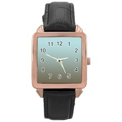 Blue Gold Gradient Rose Gold Leather Watch