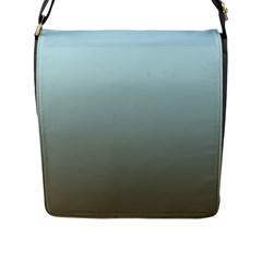 Blue Gold Gradient Flap Closure Messenger Bag (large)