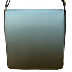 Blue Gold Gradient Flap Closure Messenger Bag (Small)