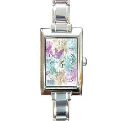 Joy Butterflies Rectangular Italian Charm Watch