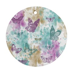 Joy Butterflies Round Ornament