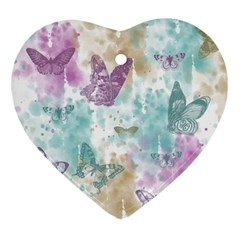 Joy Butterflies Heart Ornament
