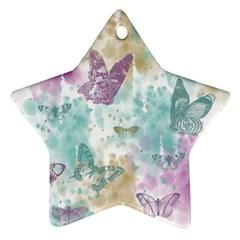 Joy Butterflies Star Ornament