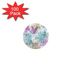 Joy Butterflies 1  Mini Button Magnet (100 pack)