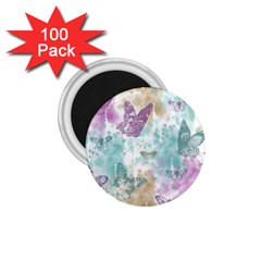 Joy Butterflies 1 75  Button Magnet (100 Pack)