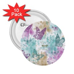 Joy Butterflies 2 25  Button (10 Pack)