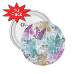 Joy Butterflies 2.25  Button (10 pack)