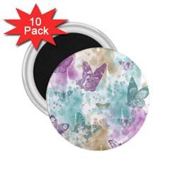 Joy Butterflies 2.25  Button Magnet (10 pack)