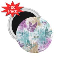 Joy Butterflies 2.25  Button Magnet (100 pack)