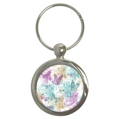 Joy Butterflies Key Chain (round)