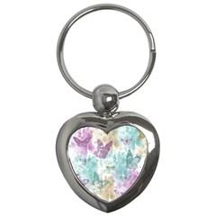 Joy Butterflies Key Chain (Heart)