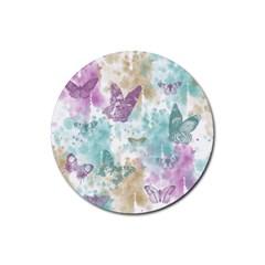 Joy Butterflies Drink Coaster (Round)
