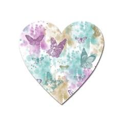Joy Butterflies Magnet (Heart)