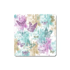 Joy Butterflies Magnet (Square)