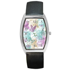 Joy Butterflies Tonneau Leather Watch