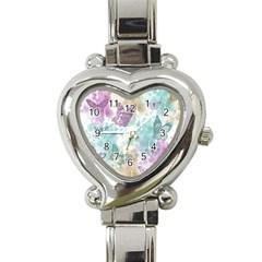 Joy Butterflies Heart Italian Charm Watch