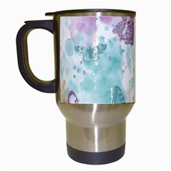 Joy Butterflies Travel Mug (white)