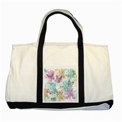 Joy Butterflies Two Toned Tote Bag