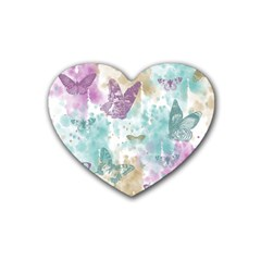 Joy Butterflies Drink Coasters (Heart)
