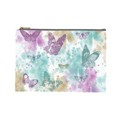 Joy Butterflies Cosmetic Bag (Large)