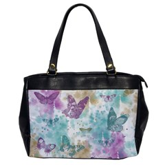 Joy Butterflies Oversize Office Handbag (one Side)