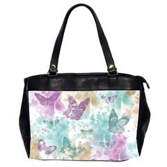 Joy Butterflies Oversize Office Handbag (two Sides)