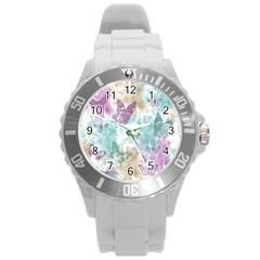 Joy Butterflies Plastic Sport Watch (Large)