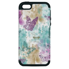 Joy Butterflies Apple Iphone 5 Hardshell Case (pc+silicone)