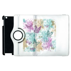 Joy Butterflies Apple Ipad 2 Flip 360 Case
