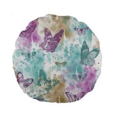 Joy Butterflies 15  Premium Round Cushion