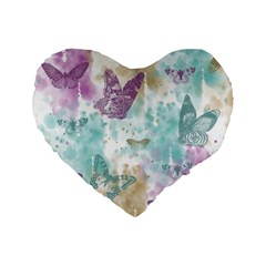 Joy Butterflies 16  Premium Heart Shape Cushion