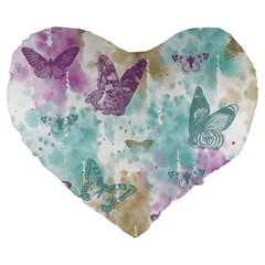 Joy Butterflies 19  Premium Heart Shape Cushion