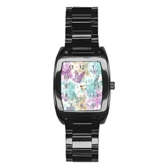 Joy Butterflies Stainless Steel Barrel Watch