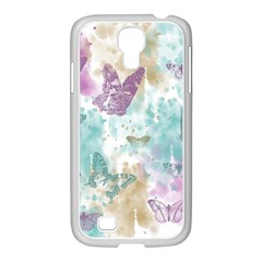 Joy Butterflies Samsung GALAXY S4 I9500/ I9505 Case (White)