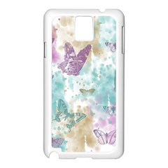 Joy Butterflies Samsung Galaxy Note 3 N9005 Case (white)