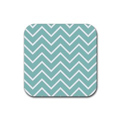 Blue And White Chevron Drink Coasters 4 Pack (Square)