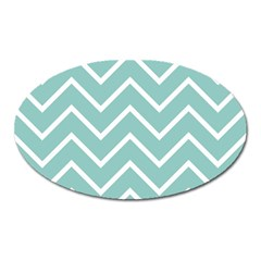 Blue And White Chevron Magnet (Oval)