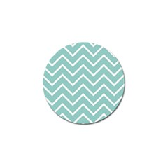 Blue And White Chevron Golf Ball Marker 10 Pack