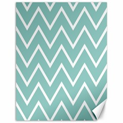 Blue And White Chevron Canvas 12  x 16  (Unframed)
