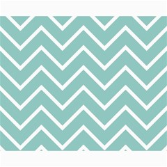 Blue And White Chevron Canvas 16  x 20  (Unframed)