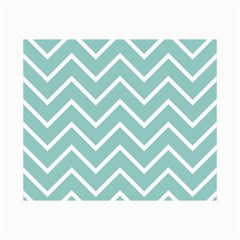 Blue And White Chevron Canvas 20  x 30  (Unframed)