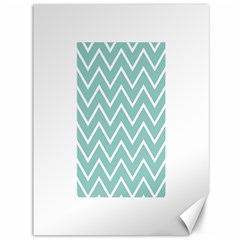 Blue And White Chevron Canvas 36  x 48  (Unframed)
