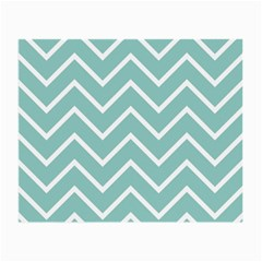 Blue And White Chevron Glasses Cloth (Small, Two Sided)