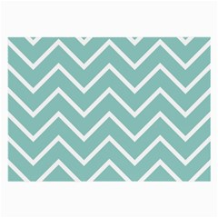 Blue And White Chevron Glasses Cloth (Large, Two Sided)